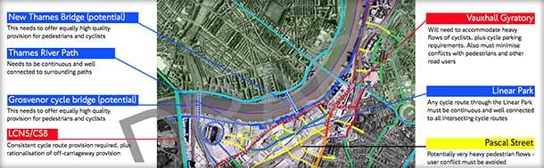 Wandsworth Cycle Scheme: Grosvenor Rail Bridge crossing