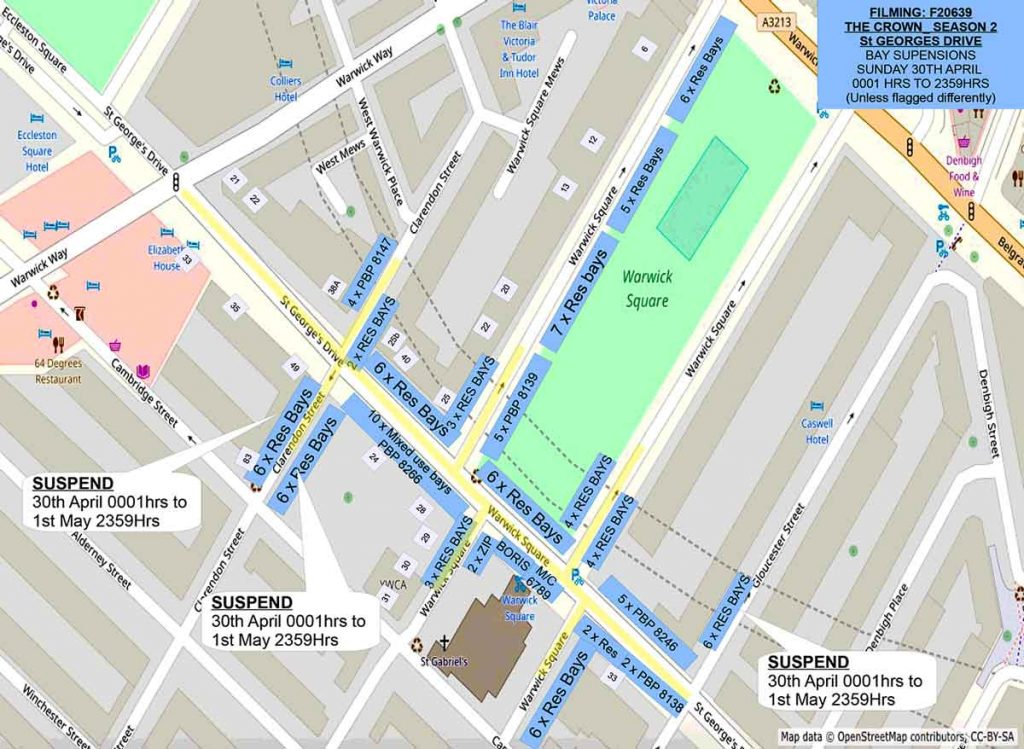 The Crown: Parking suspensions & road closures on St George's Drive